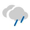 Muy nuboso con lluvia escasa
